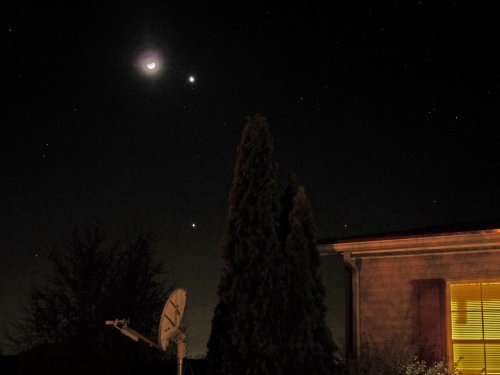 The Moon, Jupiter & Mars