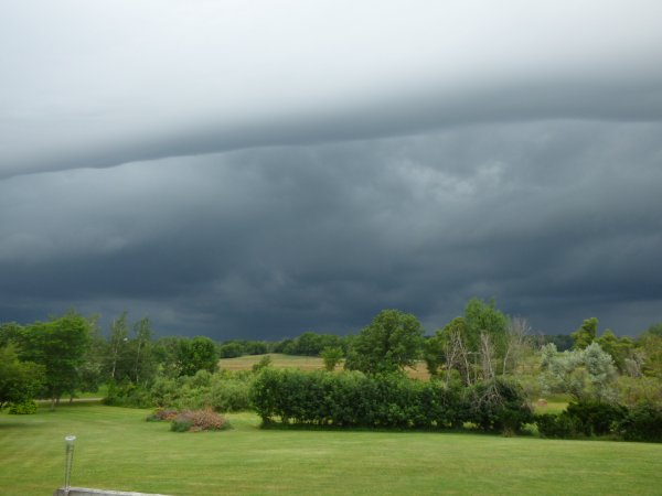 We don't often see shelf clouds like this