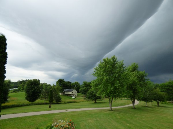 The front kept moving toward me
