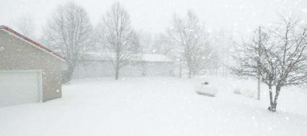 Tuesday morning snow